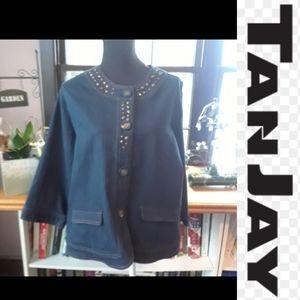 Size 16P Tanjay quarter sleeve dress jean jacket